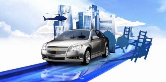 car sie view city background